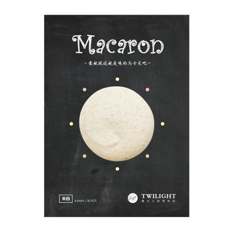 8 rəngli Macaron yapışqan xatirə yastığı Vintaj gündəlik - Qeyd kitabçaları - Fotoqrafiya 6