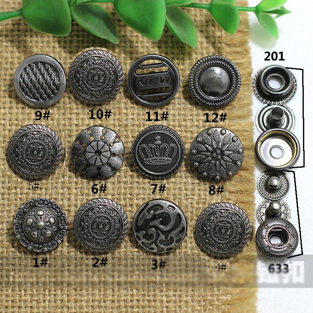 Модное дизайнерское металлическое пальто разных цветов с кнопками для одежды, Ручное шитье, аксессуары для кожи, 50 шт./лот