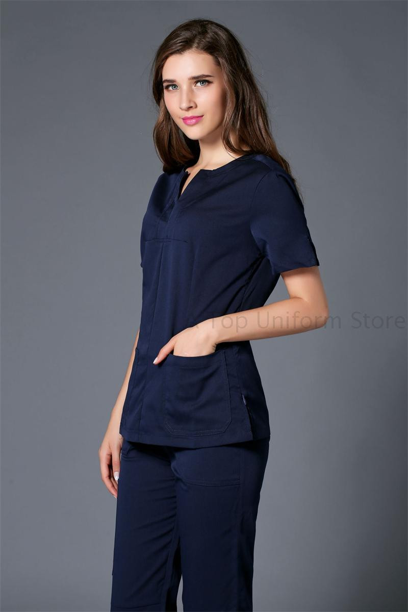 New color women hospital medical scrub clothes uniform for Spa uniform colors