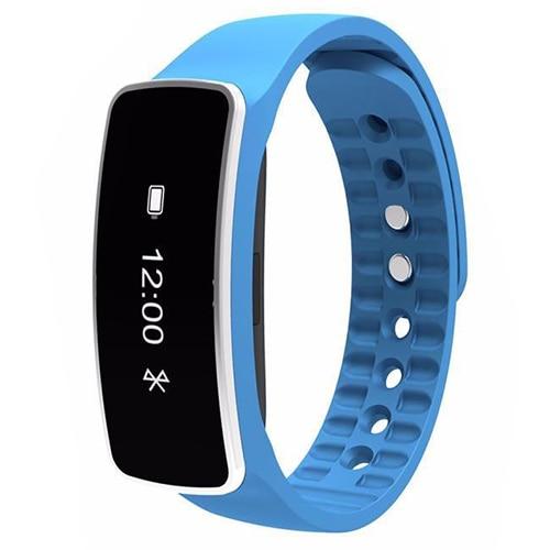 Smart Wrist Band Bracelet Watch Sleep Sports Fitness Activity Tracker Pedometer Colour Blue
