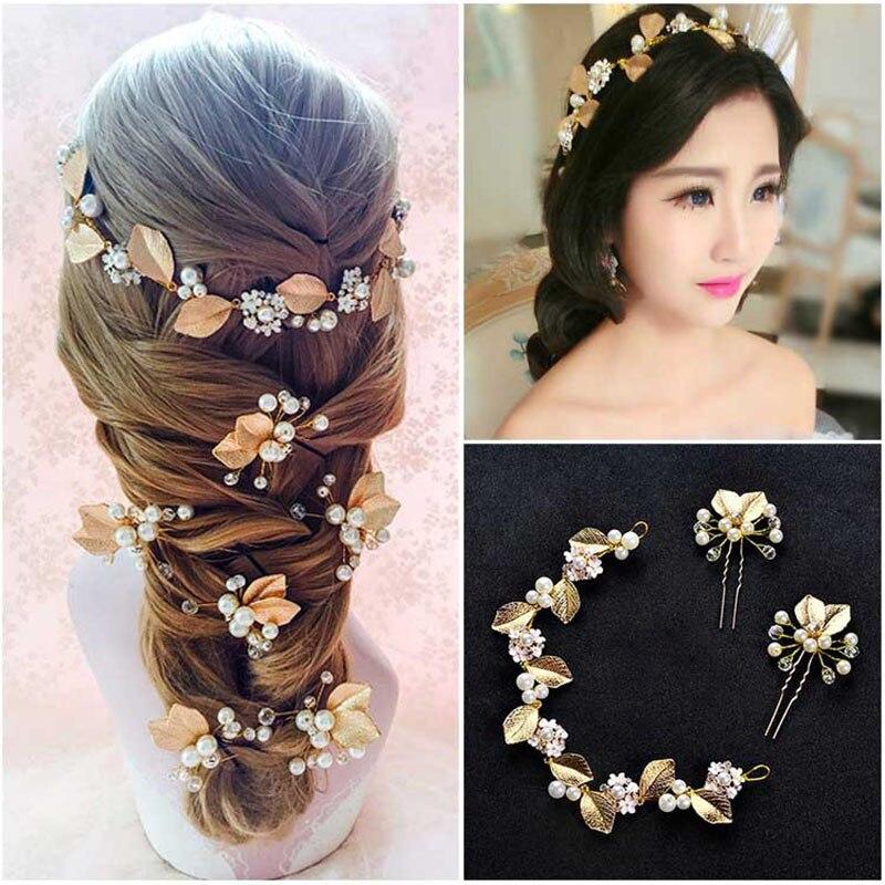 Frauen Niedlichen Mädchen Perle Perle Barrette Haarspange Haarnadel Haarschmuck