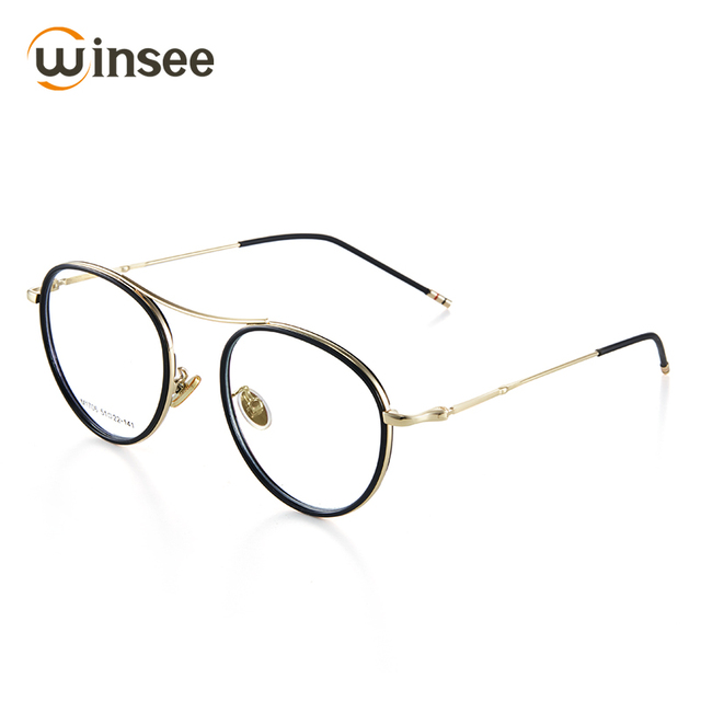 Winsee Vintage Eyewear Glasses Frame Clear glasses brand Women round ...