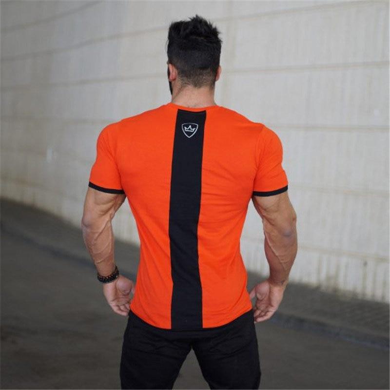 Fitness bodybuilding gyms t-shirt mens costume 3