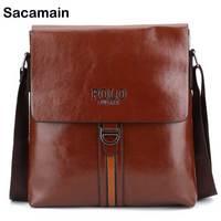 Crossbody Bags For Men's PU Leather Shoulder Bag Casual Vintage Male Messenger Bags Long Strap Male Briefcase Toyoosky Vormor