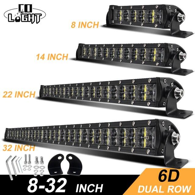 שיתוף אור 6D Offroad בר אור 36W 72W 120W 180W Slim LED עבודה אור LED בר עבור טרקטור סירת לאדה 4WD 4x4 משאית SUV טרקטורונים 12V 24V