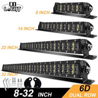 CO LIGHT 6D Offroad Light Bar 36W 72W 120W 180W Slim LED Work Light LED Bar for Tractor Boat Jeep 4WD 4x4 Truck SUV ATV 12V 24V