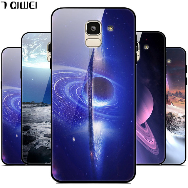 best service 074b2 5008e US $3.84 19% OFF|For Samsung Galaxy J6 2018 Case Cover EU Tempered Glass  Back Hard Case For Samsung J6 2018 Case J600F J600G Soft TPU Frame Para-in  ...