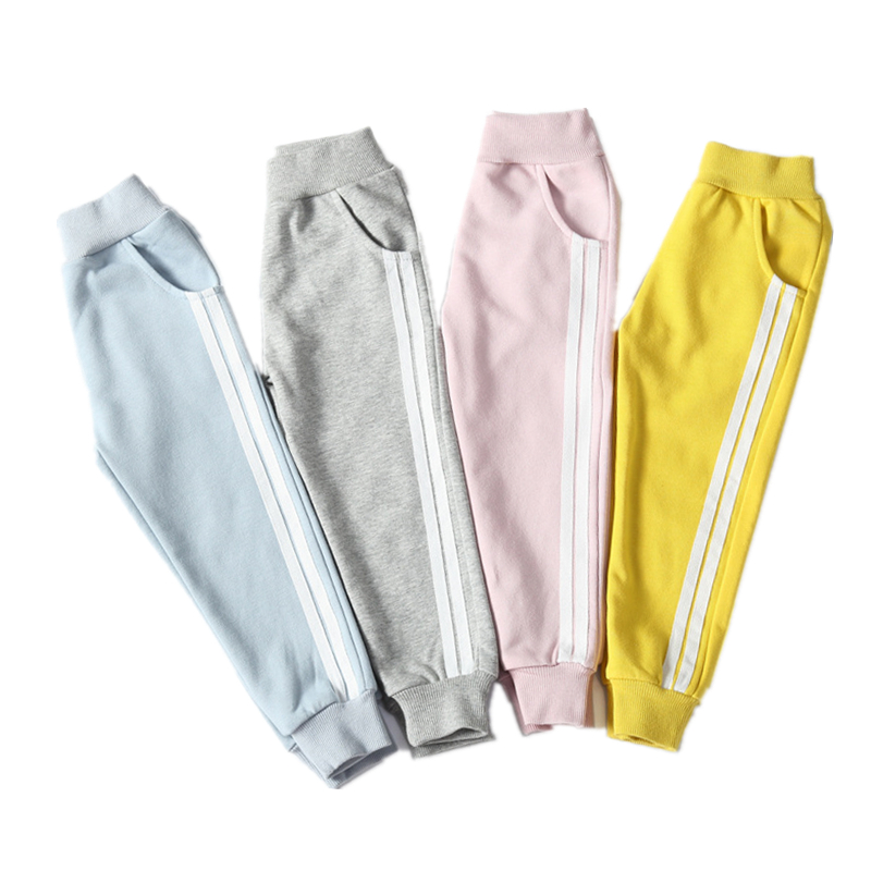 2018 Boys&Girls Sports Pants For The Boy In Spring Autumn Cotton Girls Leggings For Girls Clothes Children Girl Kids Pants2-7Y цена и фото
