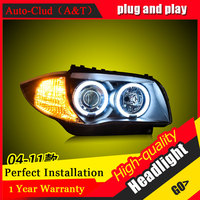 Auto Clud Car Styling For BMW 1series E87 120i 130i headlights For E87 head lamp led DRL front Bi Xenon Lens Double Beam HID KIT
