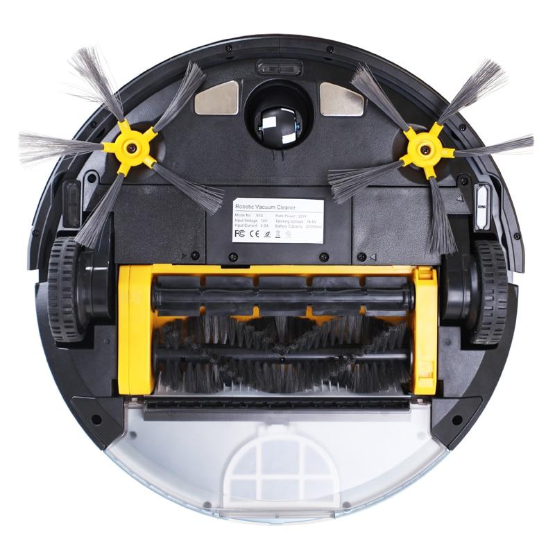 LIECTROUX Roboter Staubsauger X5S WIFI App Control Zickzack Geplant Reinigung Typ Wasser Tank Lionthium Batterie Fernbedienung HEPA-Filter
