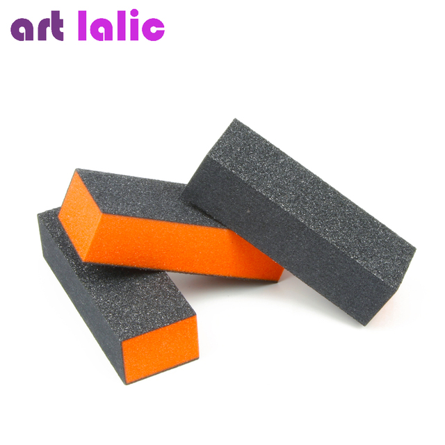 2 Pcs Lot Nail Art Buffer 3 Sided Sponge Buffing Sanding Files Block