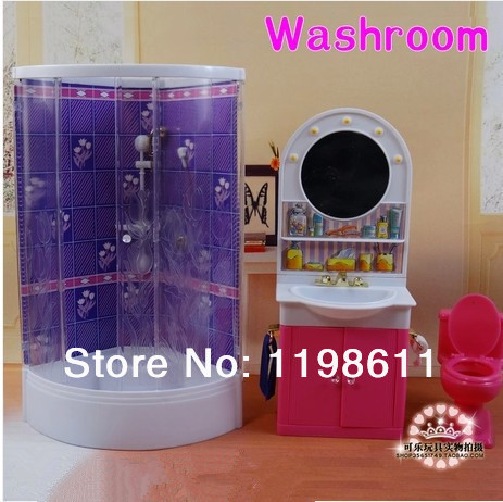 barbie furniture diy. Free Shipping Best Girls Gifts DIY Accessories Bathroom Washing Room Doll Furniture For Barbie Doll-in Dolls From Toys Diy E