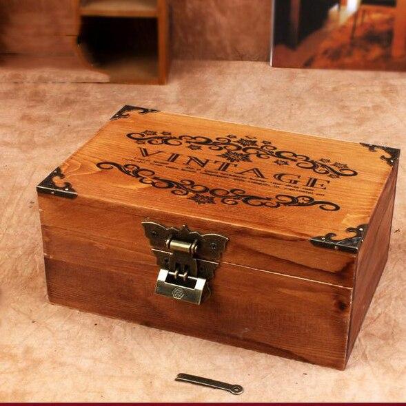Zakka Retro creative desk brown Vintage Jewelry Organizer Wooden