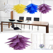 Creative DIY Lotus Chandelier PP Pendant Droplight Shade Ceiling Room Decoration Puzzle Lights Modern Lamp For Home Decoration gentelway feather chandelier led nordic creative pendant lamp fashion art ceiling droplight romantic wedding decoration lighting
