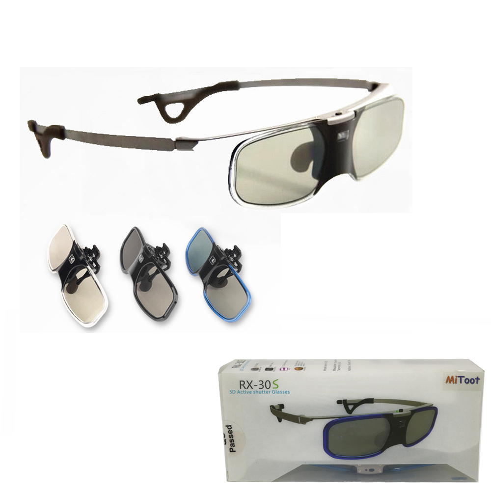MITOOT 4pcs Active Shutter 3D DLP glasses metal legs for BenQ/Z4/H1/G1/P1 LG,NUTS,Acer,Optoma DLP-LINK projectors & Myopia clip moacc newest economical universal 3d active rechargeable shutter glasses for mitsubishi samsung acer benq optoma dell vivitek nec sharp viewsonic dlp link dlp link projector and 3d ready dlp hdtv