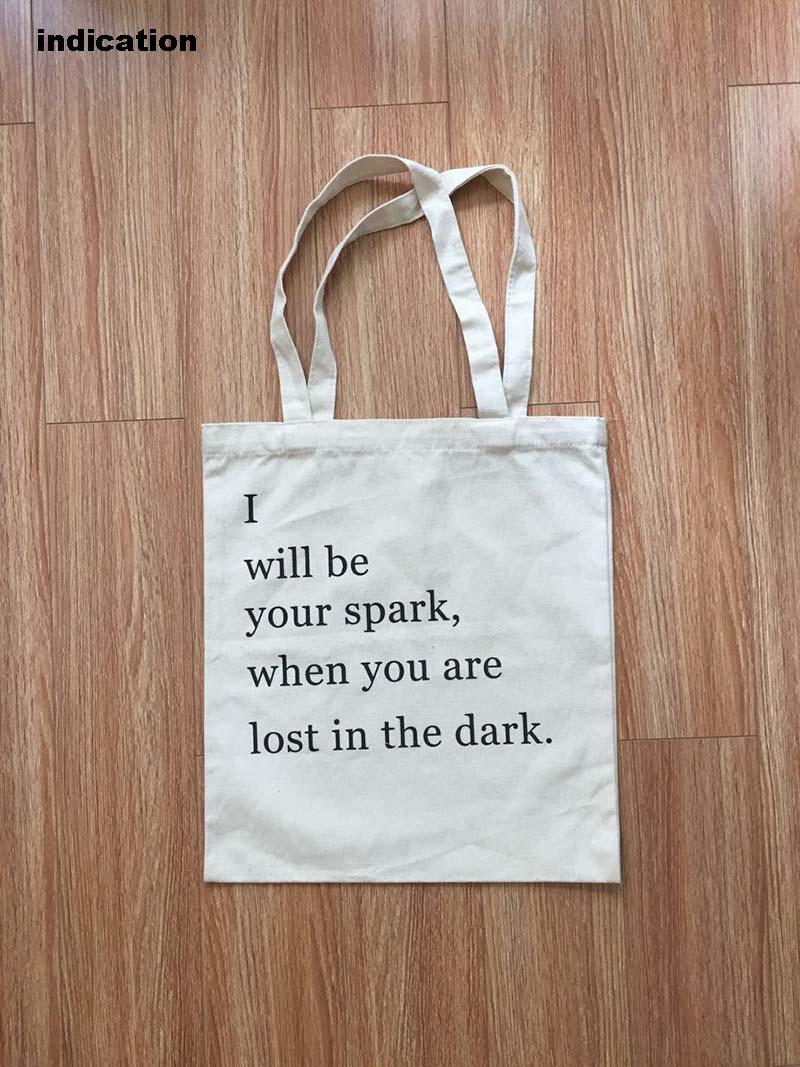 100Pcs Size 36*40Cm Canvas Cotton Tote Bag Customized Logo Eco Company Advertising University Activity