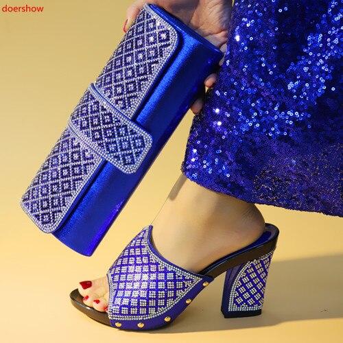 2 Les Sac argent rouge Assorties Pour bleu Bxn1 Ladypartys Italien Sacs Africain Doershow Noir or Assorti Assortis Goodred Ensemble Chaussure Et Chaussures qRq1a8wxt