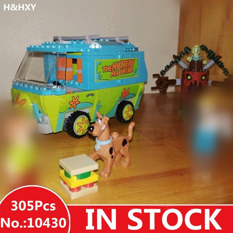 IN MAGAZZINO H & HXY 10430 305 pz Compatibile Scooby Doo Il Mistero Macchina 75902 Modello Building Block Giocattoli Educativi per I Bambini