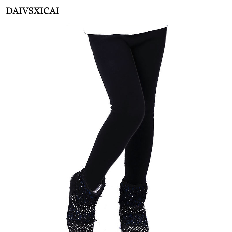 Daivsxicai Winter Leggings Children Candy Colors Thicker Girls Cotton Leggings Elasticity Breathable Kids Warm Leggings Girls