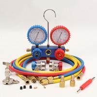 R134A HVAC A/C Refrigeration Kit AC Manifold Gauge 60 Hose Set Auto Service Kit Diagnostic Tools