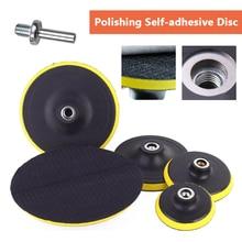 "3 ""/4""/5 ""/6""/7 ""selbst adhesive disc & bohrer stange Für autolack Pflege polieren pad 75mm 100mm 125mm 150mm 180mm"