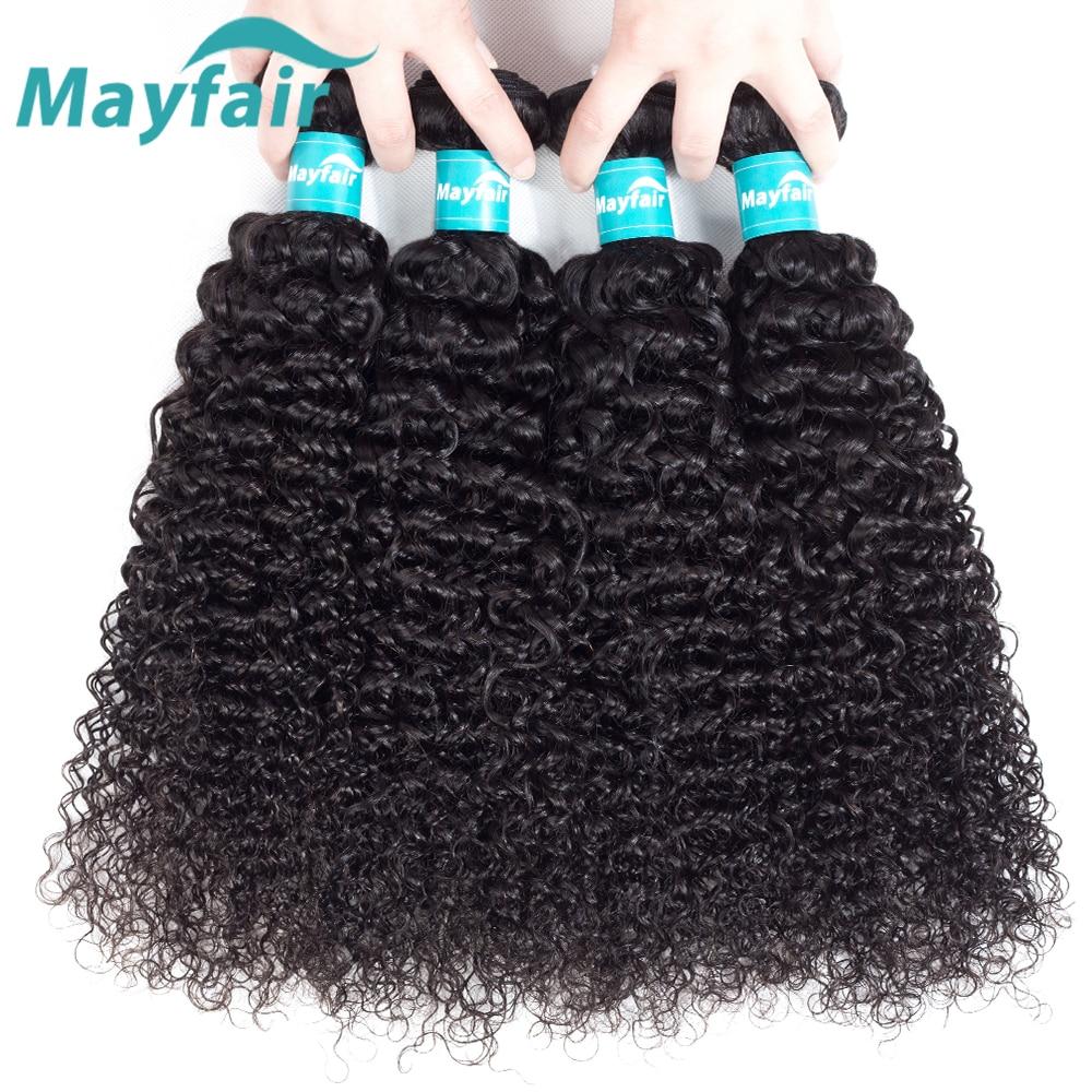 Mayfair Peruvian Kinky Curly Hair 4 Bundles 10-28 Inch Remy Hair Extensions Natural Color Peruvian Hair Weave Bundles Deals