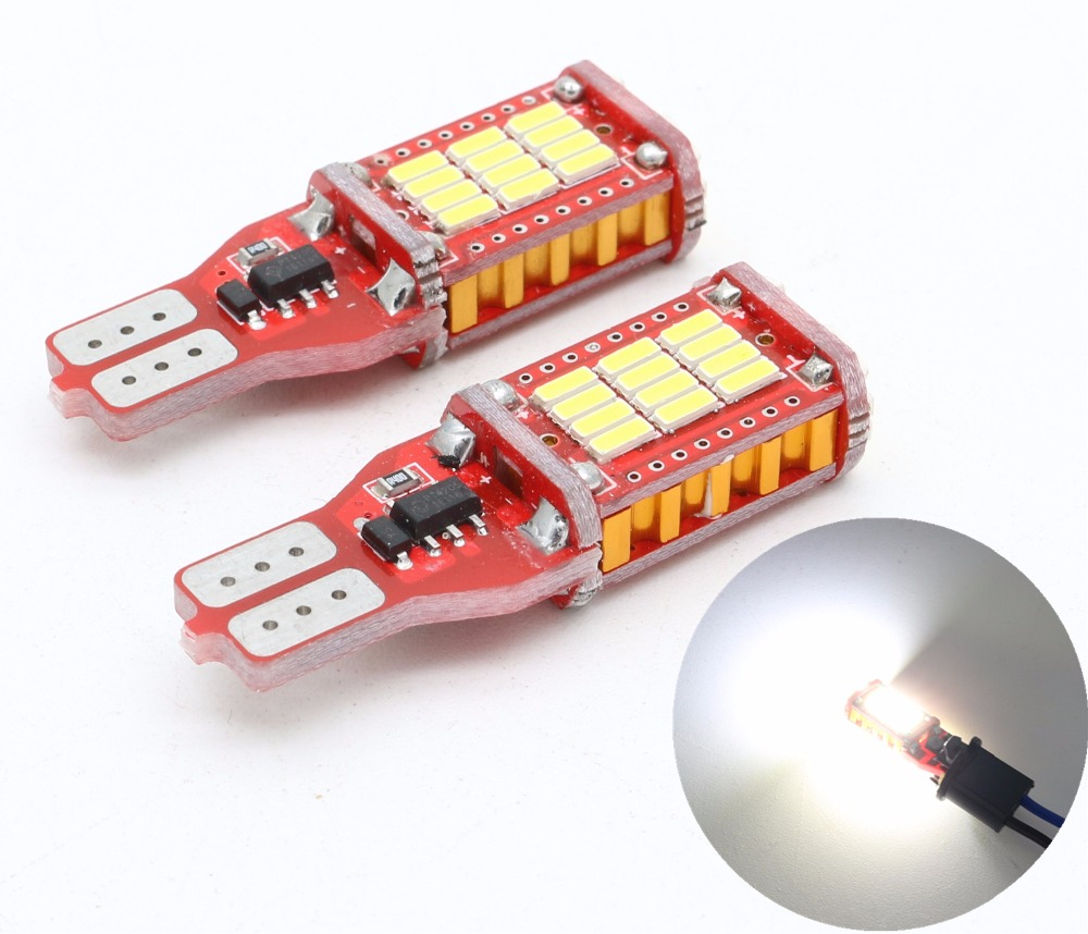 2x T15 W16W 921 High Power Car Truck Turn Singal Width Brake Light 33smd 4014 White 1000LM