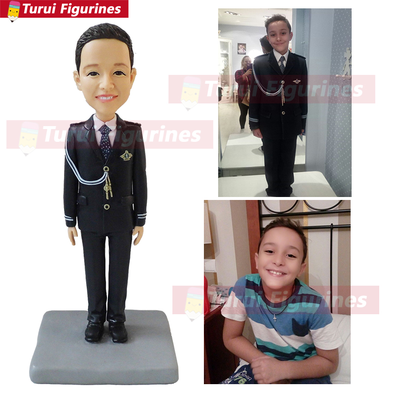 hobby collectible figurine gift for boy kids real person face figura like precious moment custom bobblehead handmade in china
