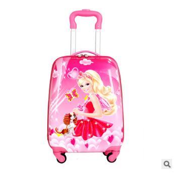 все цены на Kid's Travel Trolley suitcase kid Trolley case Kid luggage trolley case wheeled travel case Children trolley Case for kids
