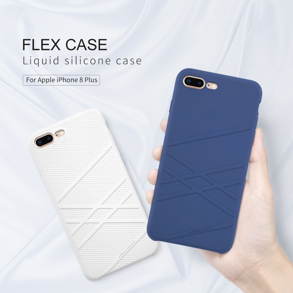 For iphone 8/8 Plus Flex Case Cover For Apple iphone x/xs NILLKIN FLEX Liquid Silicone Case Soft Back cover case bag bumper