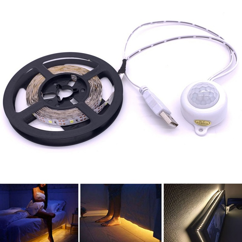 Wireless Motion Sensor LED Strip Lamp 1M 2M 3M 5V USB LED Strip PIR LED Light Strip Closet TV Backlight Lighting LED Light Strip