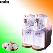 Xeoleo Yogurt Ice cream machine 6L*2 Double tanks Slush machine 890W Double compressor Ice Slushie Snow melting machine Smoothie