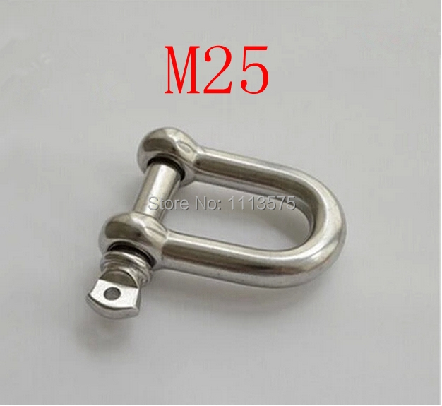 M25 304 321 316 metal stainless steel fasterner hardware d D ring snap shackle shackles m16 m32 316 d shackle stainless steel screw pin d shackle