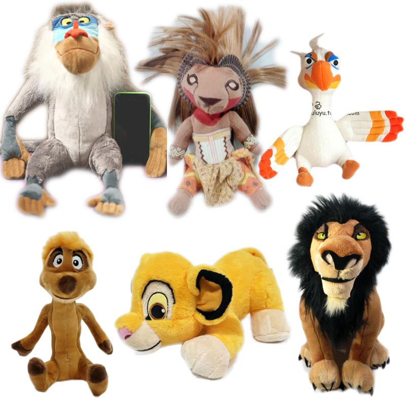 Us 1078 30 Offthe Lion King Plush Toys Baby Doll Simba Nana Scar Zazu Rafiki Pumbaa Timon Soft Toys Stuffed Animal Children Kids Gift In Movies