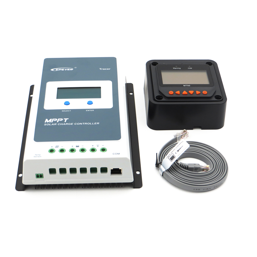 Tracer 2210AN EPsloar 20A MPPT Solar Charge Controller 12V 24V LCD With MT50 meter Tracer2210AN
