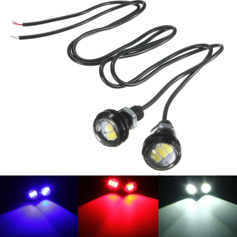 Car Light Assembly 12V 10W 5730 LED Eagle Eye Reverse Lamp Motorcycle Car Interior Door Decorative Lights Blue White Red #LM45