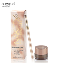 O.TWO.O Waterproof Make Up Best Seller 2in1 Coffee Brown Gel Focus Cushion Eyeliner and Eyebrow Brushes