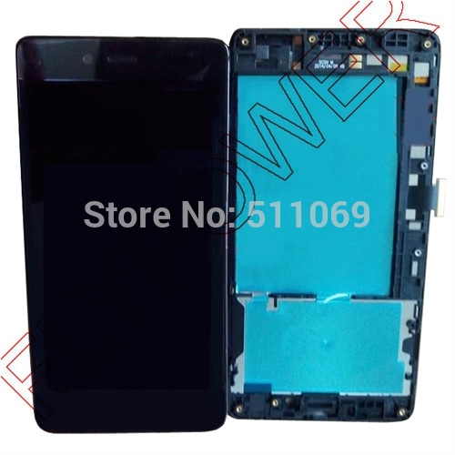 For Infocus M512 LCD Screen Display with Touch Screen Digitizer Assembly+frame by free shipping;New Original;Black;100% warranty new original for htc one x s720e g23 touch screen lcd display assembly with frame lcd black free shipping