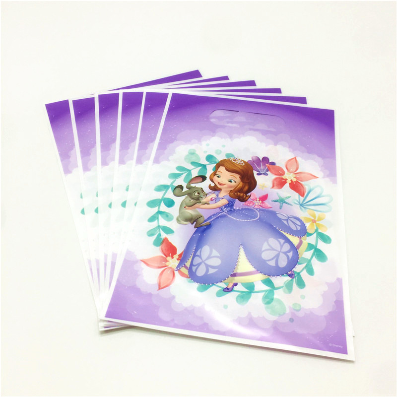 19Pcs Lot Disney Princess Sofia Birthday Party Supplies Decoration Sets Kids Birthday Disposable Tableware Set Paper Plate Cup in Disposable Party Tableware from Home Garden