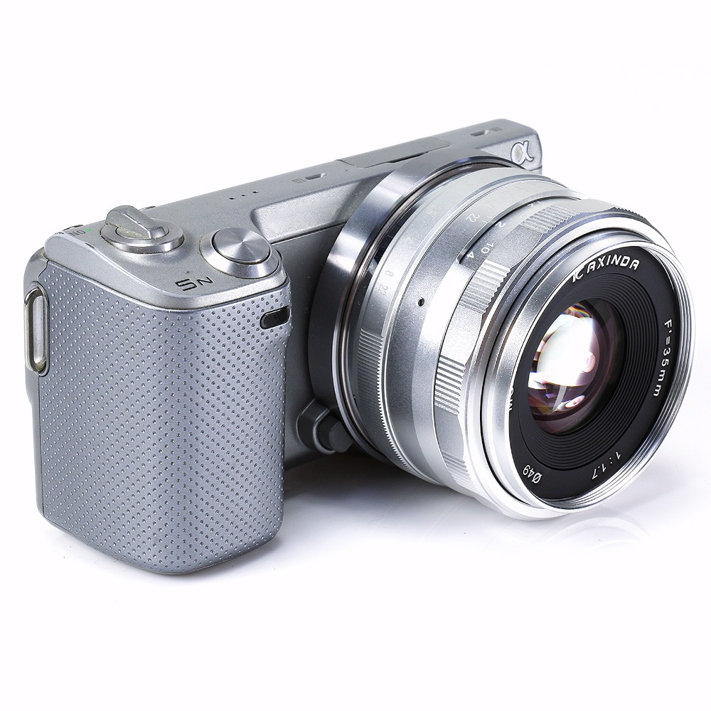 New Kaxinda 35mm F1.7 APS-C Manual camera Lens for Canon EF-M Mount EOS M M2 M3 M10 Silver
