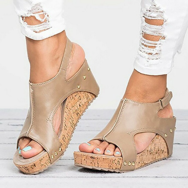Laamei Platform Sandals Wedges Shoes For Women Heels Sandalias Mujer Summer Shoes Clog Womens Espadrilles Women Sandals 2018