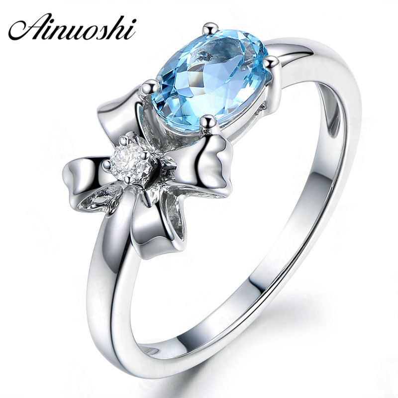 AINUOSHI 1.5 Carat Oval Cut Topaz Plant Ring 925 Sterling Silver Natural Sky Blue Topaz Flower Ring Jewelry Gifts for WomanAINUOSHI 1.5 Carat Oval Cut Topaz Plant Ring 925 Sterling Silver Natural Sky Blue Topaz Flower Ring Jewelry Gifts for Woman