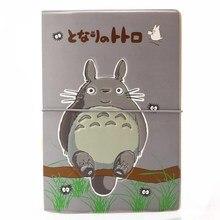 Cute Totoro Pattern Passport Cover Travel Goods Accessories ID Business Protector Women  Men Card Holder Organizer