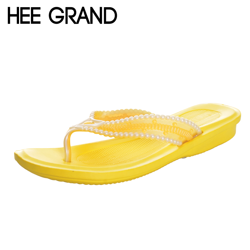 HEE GRAND 2017 Flip Flops Casual Summer Slides Beach Slip On Flats Platform Bling Fashion Shoes Woman Slippers 4 Colors XWT936 hee grand summer flip flops gladiator sandals slip on wedges platform shoes woman gold silver casual flats women shoes xwz2907