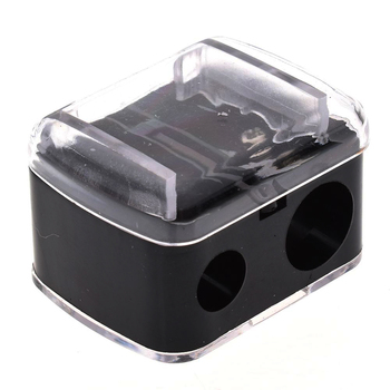 Fashion 2 Holes Precision Cosmetic Pencil Sharpener For Eyebrow Lip Liner Eyeliner Pencil School Office Supply Gift Hot Sale