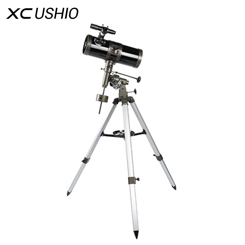 Equatorial Mount Space Astronomical Telescope 500x Optical Monocular Newton Telescope Reflecting Tripod Camping Hunting Nebula bosma 80 900 astronomical telescope monocular equatorial refractive fully coated telescope with portable tripod w2358b