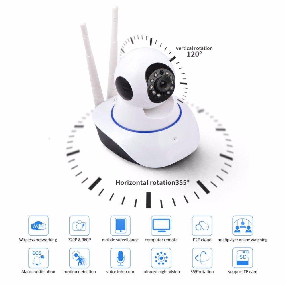bilder für Dual-antenne WiFi IP Smart Onvif Pet Kamera Wifi P2p MINI Drahtlose IP-KAMERA CCTV Kamera Ir Nachtsicht Indoor Sicherheit System