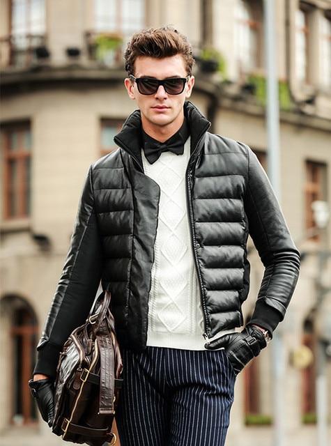 3b90f2b655b4 Warm down Jacket winter men High-end Fashion solid jacket coat White duck  down men s