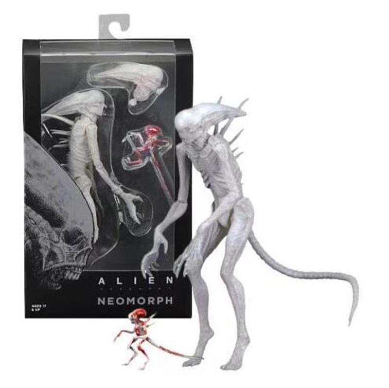 Movie AVP Aliens vs Predator Figure Series Alien Covenant Xenomorph Neomorph Creature Pack Toy Action Figures Model Toy Gift (5)