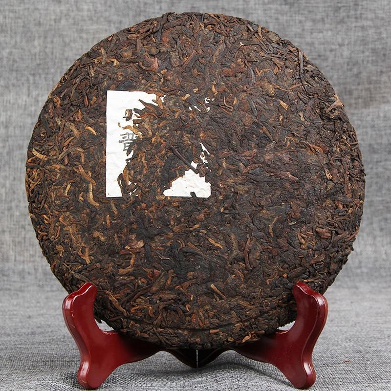 2009 Aged Ripe Puer tea Yr Yunnan Menghai Collection 357g tea Cake Shu Pu Erh Shou Pu Er Black tea Pu-Erh Qizi Bing